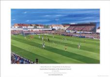No. 1 of 150 Ltd Edition  Bristol Rovers v Dagenham  A3 Framed print